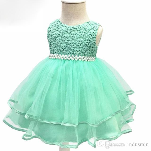 e75d36eda 2019 Flower Baby Girl 1 Year Birthday Party Dress Kids Clothes Girl ...