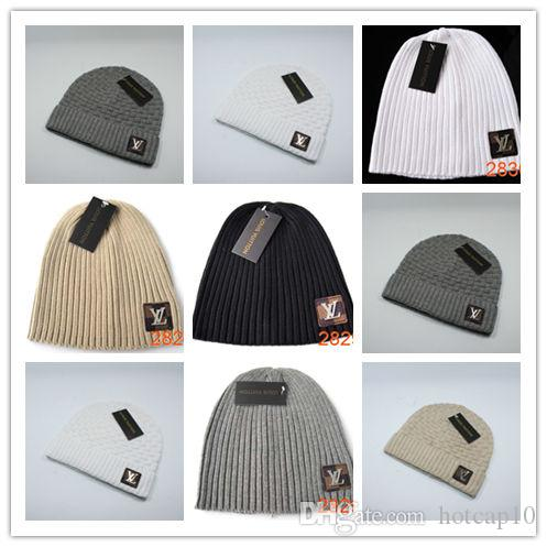 31269a0a2ca Top Sale Luxury Men Brand Designer Knit Beanies Fashion Winter Hat ...