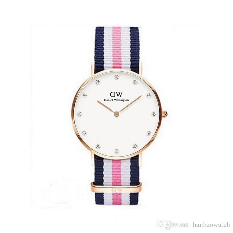 5aa0a4817ec6 2018 Fashion Diamond Daniel Watches Nylon Style 40mm Mens Watches Luxury Brand  Quartz Watch Mens Clock Relogio Montre Femme Wristwaches Watchs Sport  Watches ...