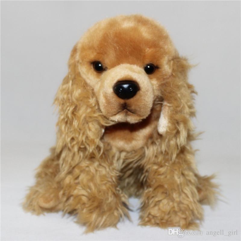 2019 Simulation Cocker Spaniel Plush Doll Longhair Hound Plush Toy