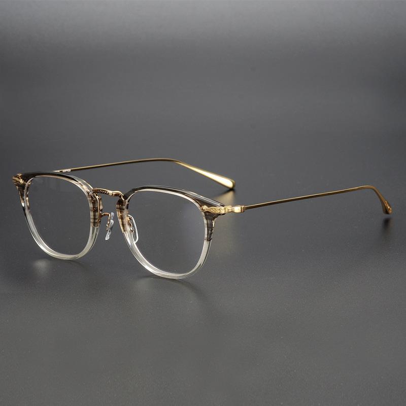 cfc58defb7 Compre OV5307 Stiles NUEVA Alta Calidad Ultraligero Titanio Puro Vintage  Marco Óptico Anteojos Gafas Hombres Mujeres Miopía Logo Original A $88.06  Del ...