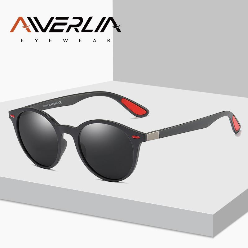 72588ac810c33 Compre Aiverlia Design Da Marca Óculos Polarizados Homens Rodada Emprestar  Óculos De Sol Unisex Óculos De Condução Tr90 Óculos De Armação Oculos Ai04  De ...