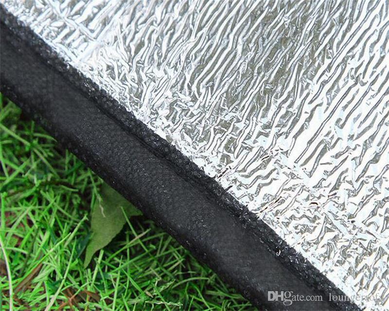 Pad a prova di umidità pieghevole a sei angoli Pellicola in alluminio a due lati Tappetino da picnic tappeti da campeggio esterni impermeabili