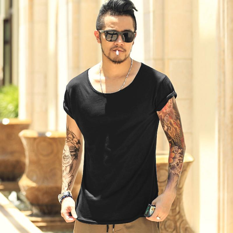 350dafe8a4b Men Lycra T Shirt 100% Cotton Summer Robin Men T Shirt Tees Hip Hop Men  Slim Short Sleeve Designer T Shirt Tops Tees 2018 New Of T Shirts Online  Buy T ...