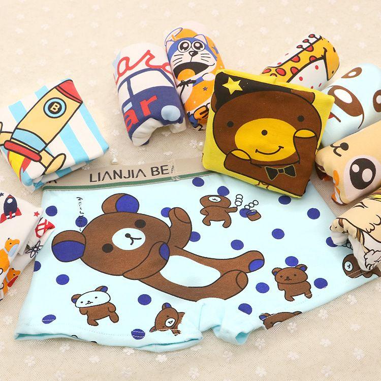 Liberi la nave Cute Cartoon Monkey Cotton Slip neonati Intimo 1-10T Boys Underpants Kids Slip modale Intimo Sport boxer bambini, MK06