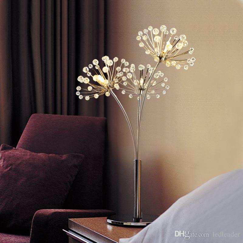 Simple modern crystal table light luxury lamp creative bedroom bedside lamp marriage wedding room decoration table lamp