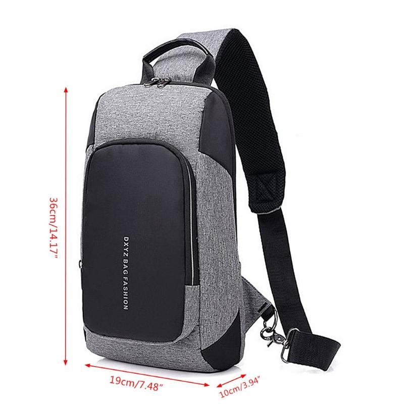 Men USB Charger Port Chest Pack Anti Theft Shoulder Sling Bag Casual Chest  Bag Pack Waist Pouch Kavu Rope Bags From Lemmom 2295a82349141
