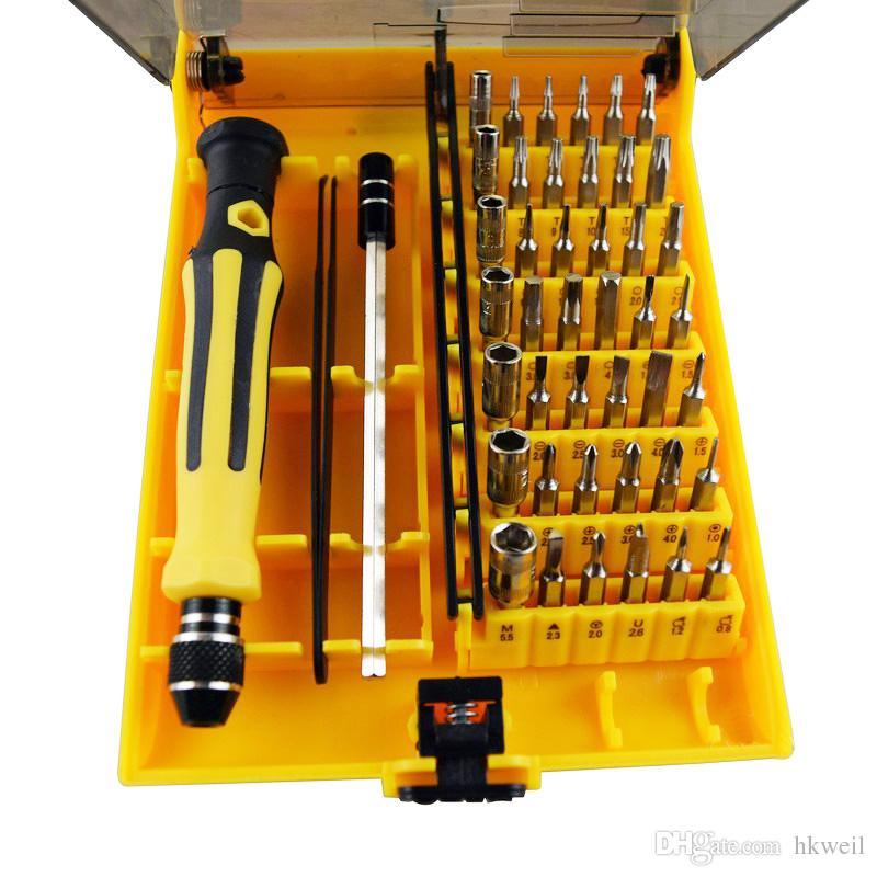Multifunctional Repair Tools Kit 45 in 1 Precision Screwdriver Repairing Kit Set For Mobile Phone laptops Computers