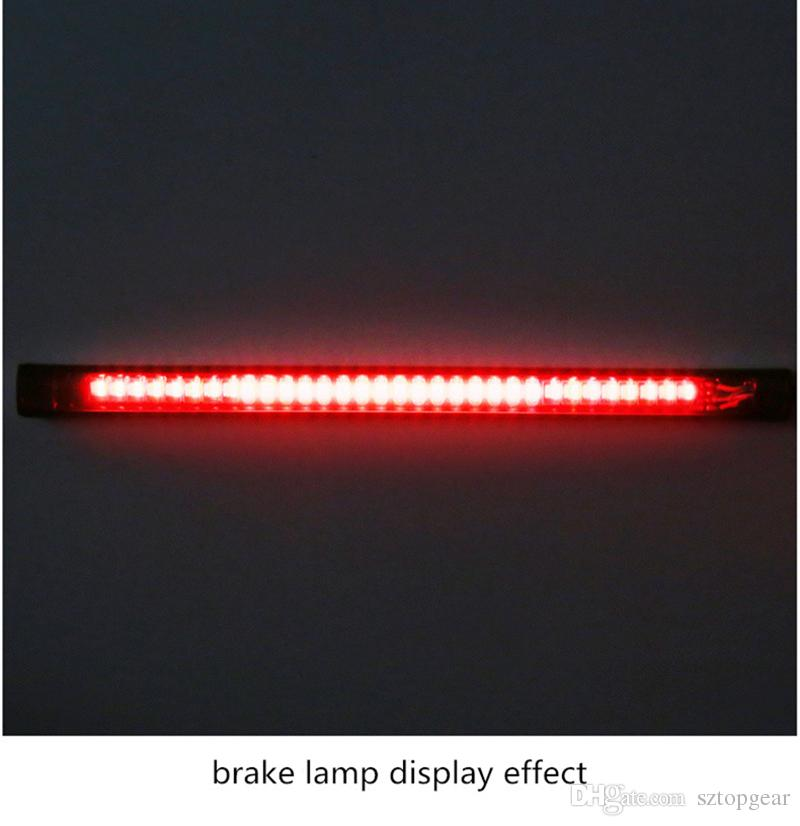 Flexible Motorcycle light Strip 48 SMD Turn Signal Bulbs 2835 3014 LED License Plate Brake Stop Lamp Red Amber 12V DC