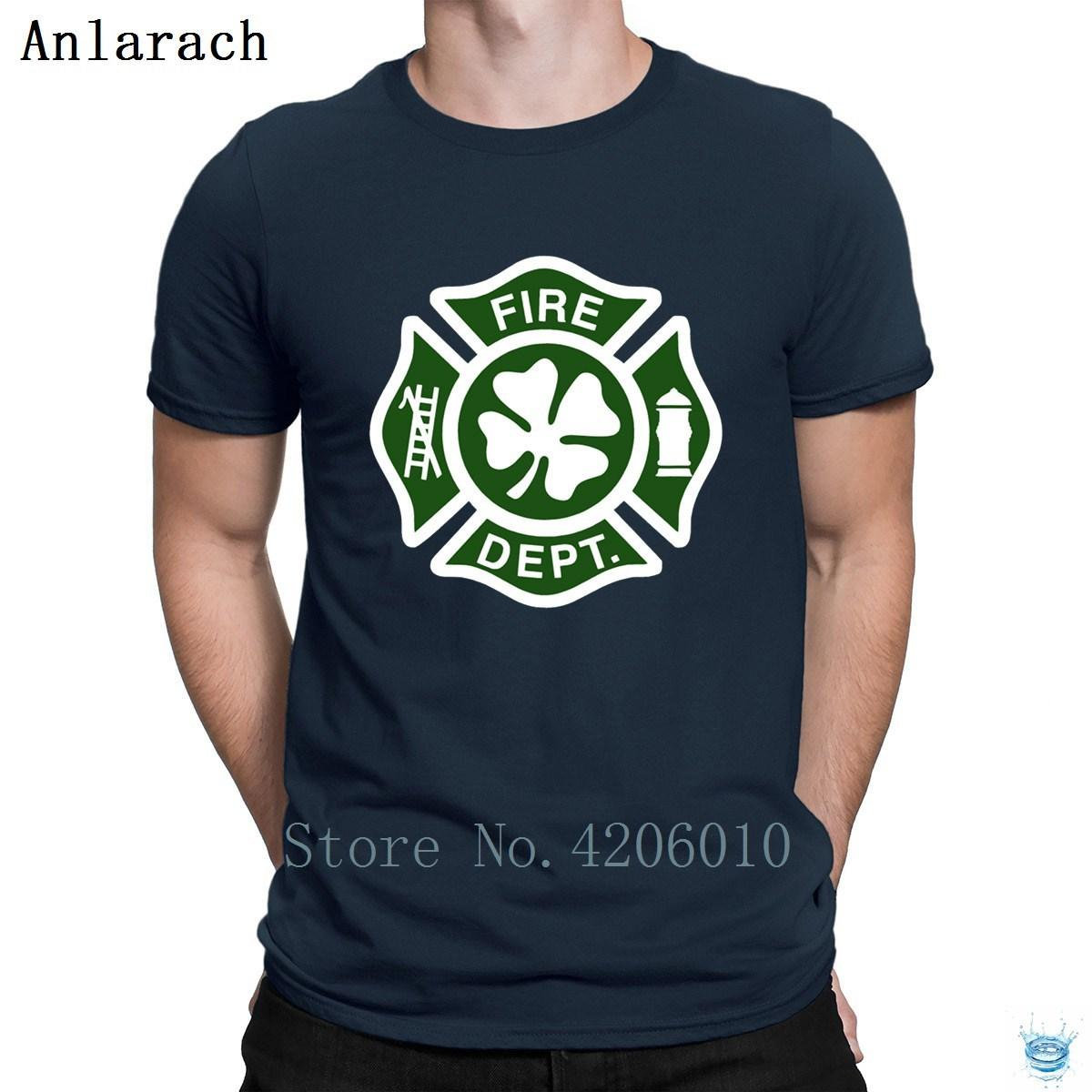 9ad592863 Irish Fire Department Tshirt Spring Autumn Fitness The New Cotton Men's Tshirt  Customized HipHop Natural Tee Shirt Websites