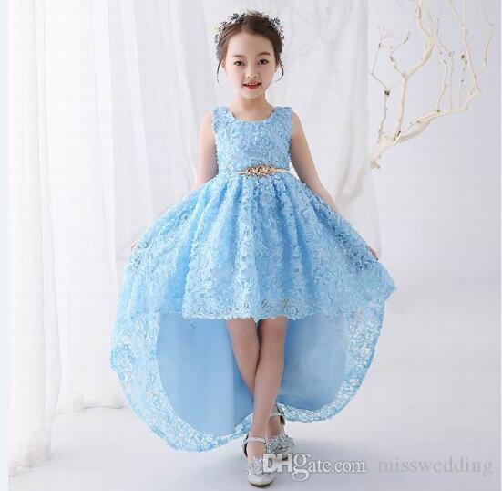 4ecb59fc7 2018 New Style Little Girl S Pageant Dress High Low Design Party ...