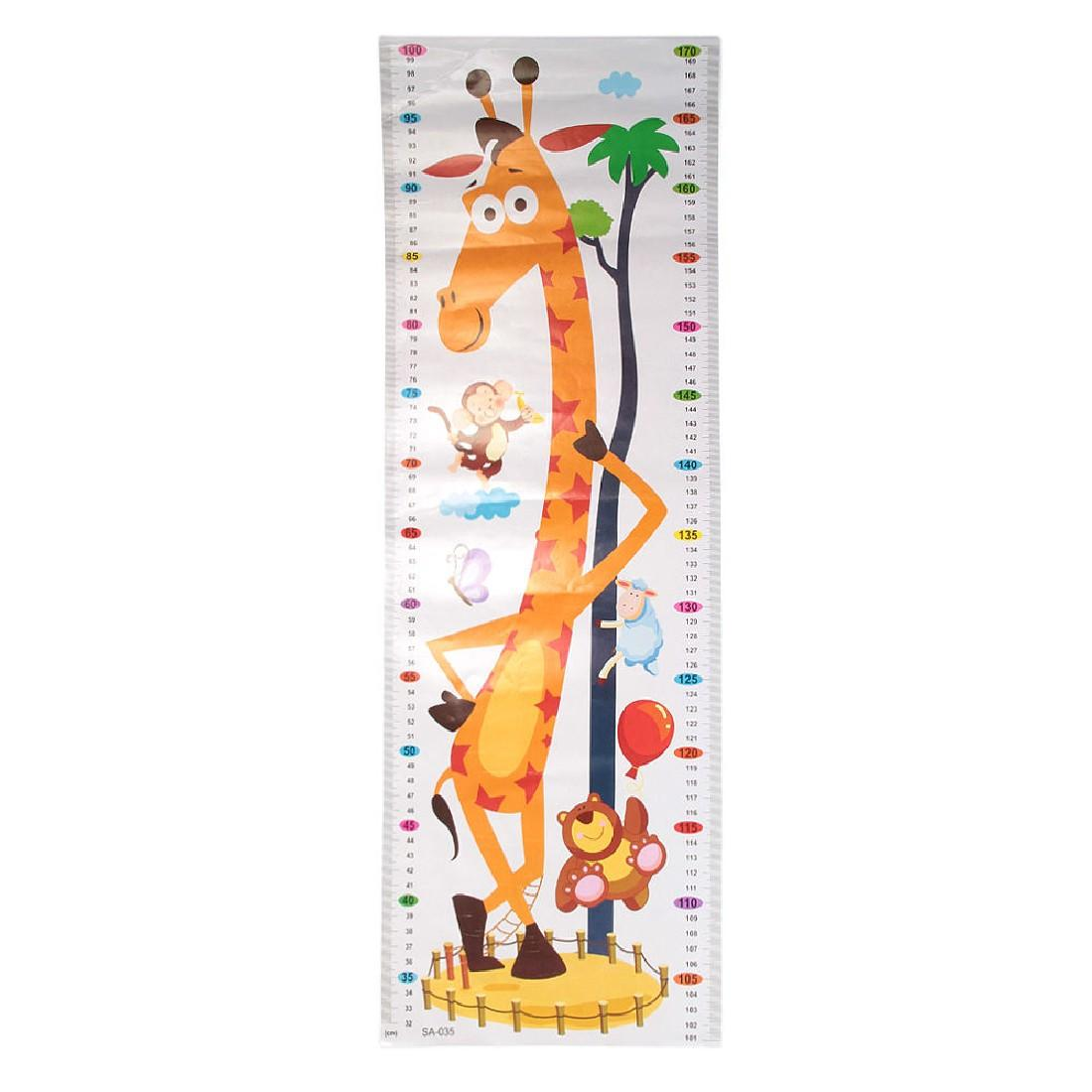 Height Chart Growth Measure Decal Wall Sticker For Kids Art Mural Removable Cartoon Pvc