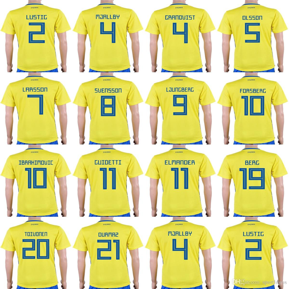 b6d670693 ... 2016 2017 country national team soccer jerseys 4243e 98b34  purchase  cheap custom 2018 world cup sweden men lady kid 10 zlatan ibrahimovic 9  marcus berg
