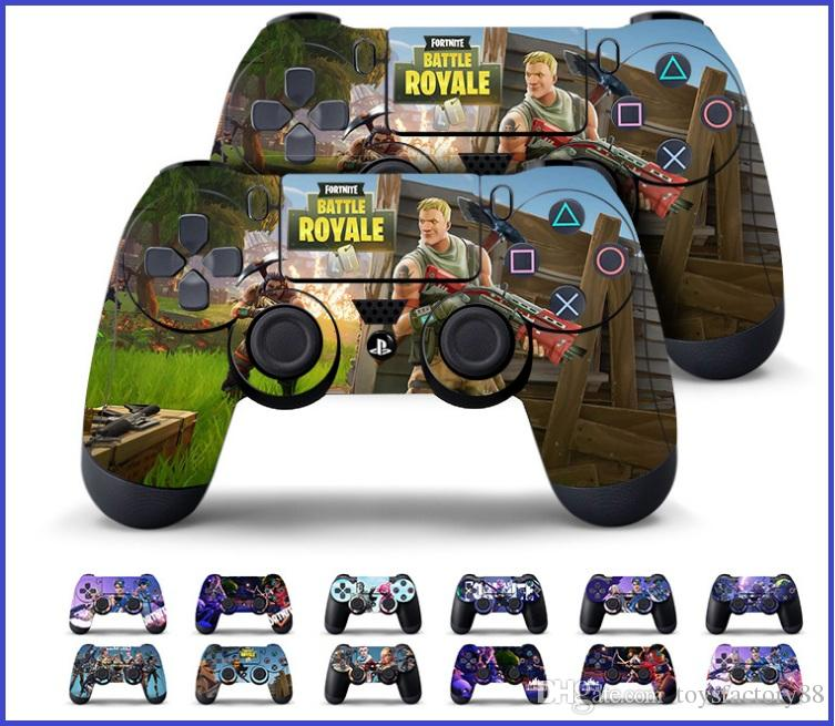 13 styles game fortnite battle royale skin sticker decal for ps4 ps4 slim ps4 pro controllers stickers cartoon vinyl sticker baby birth keepsakes keepsake