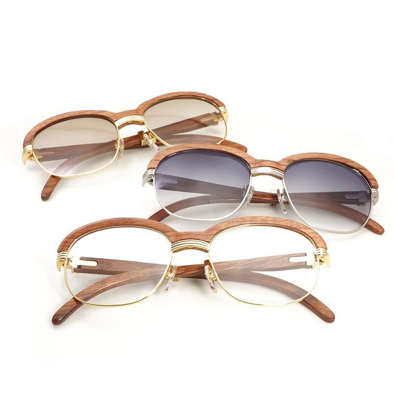Compre De Madeira De Luxo Warp Óculos De Sol Dos Homens Shades Óculos De Sol  Das Mulheres Claras Óculos De Armação De Óculos Gafas Estilo Retro Óculos  ... 3204bad92a