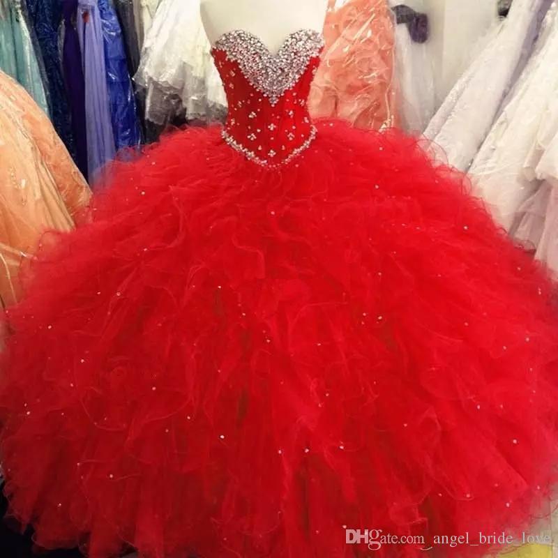 2018 New Royal Blue Sweet 16 Festa Debutantes Vestidos Inchados Cristais De Tule Querida Neck Corset Voltar 2017 Plus Size Quinceanera Vestidos Q62