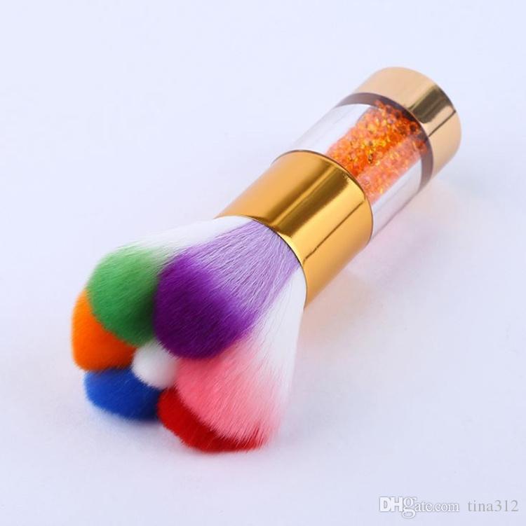 Nuovo modello Strumenti di bellezza Spazzola polvere Spazzola pulizia Beauty Blush Brush Manico trapano Setola fine T4H0449