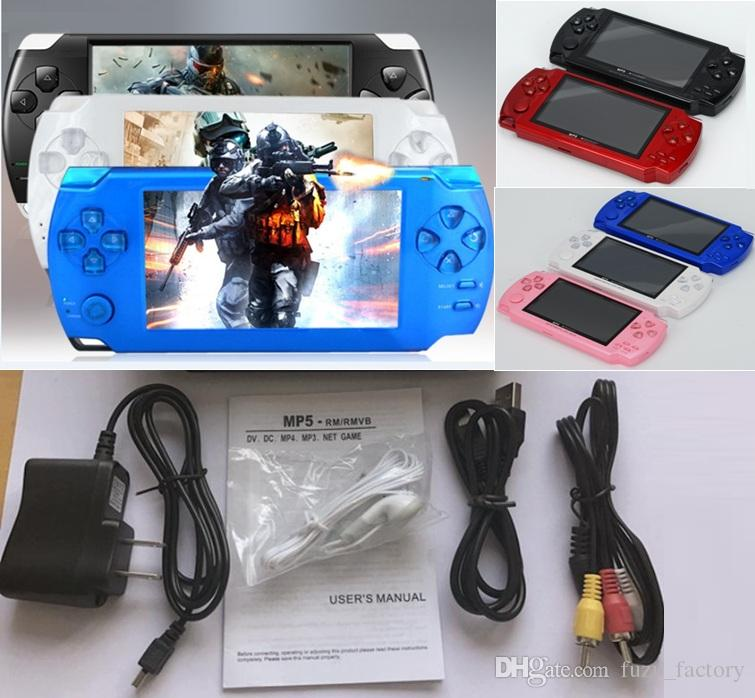 2019 New 4.3 Inch PMP Handheld Game Player MP3 MP4 MP5 Player Video FM Camera Portable 4GB Game Console Free Shipping