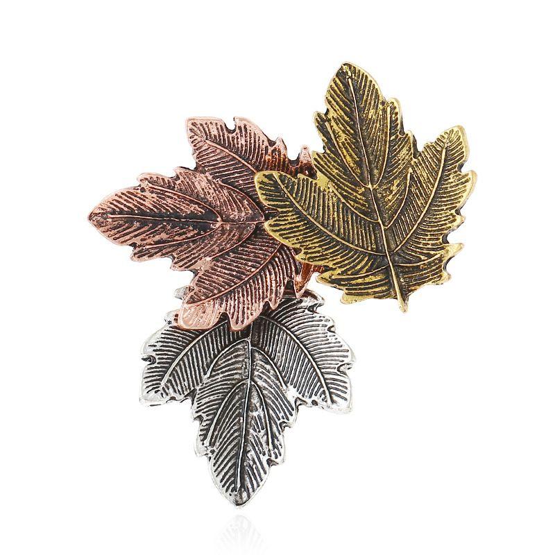 Blätter Broschen Legierung Bunte Blatt Blumen Brosche Pin Vintage Modeschmuck Frauen Kostüm