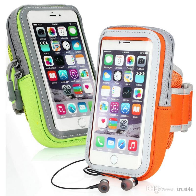 lowest price 19fa3 724b1 Armband Waterproof Sports Running Case bag workout Armbands Holder Pouch  For Samsung iphone 7 6 6s plus Cell Mobile Phone