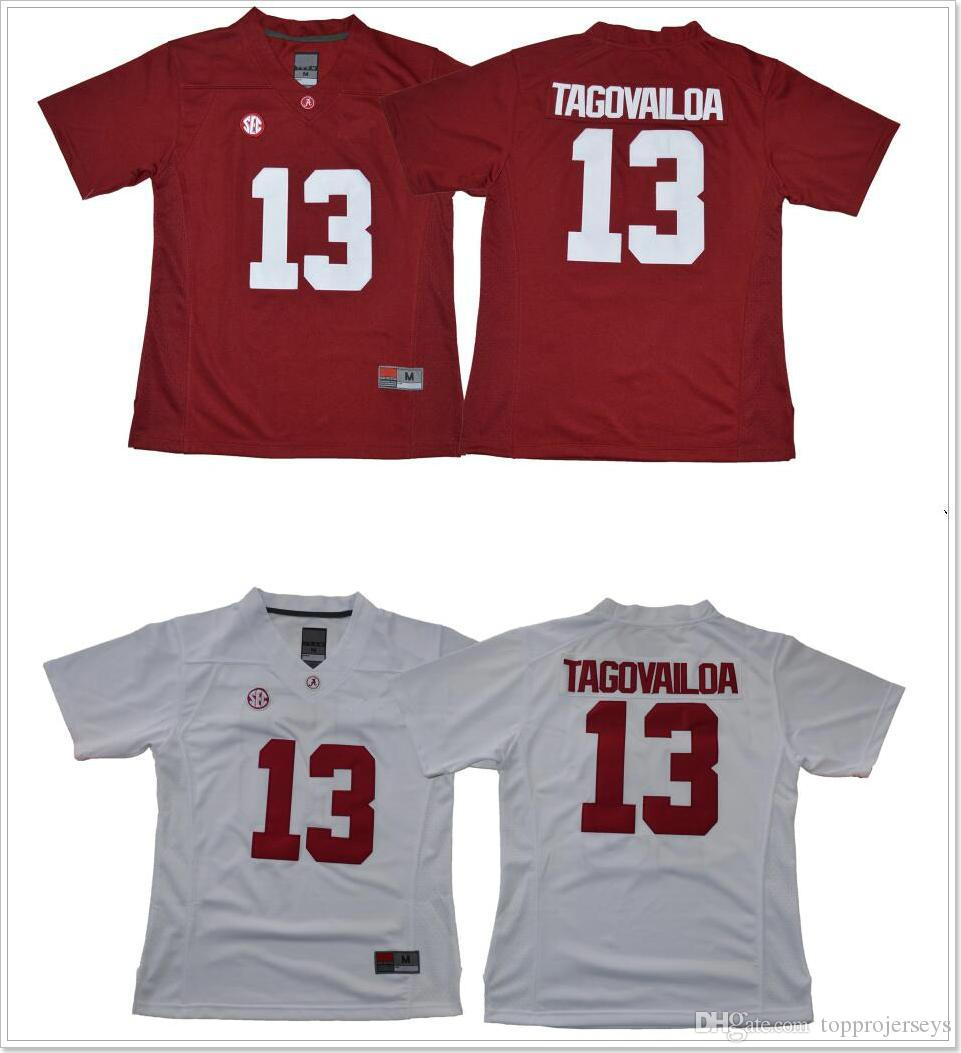 8610f0ee6 2019 Womens Alabama Crimson Tide  13 Tua Tagovailoa Cheap Stitched  Embroidery College Team American Football Pro Sports Jerseys On Sale From  Topprojerseys