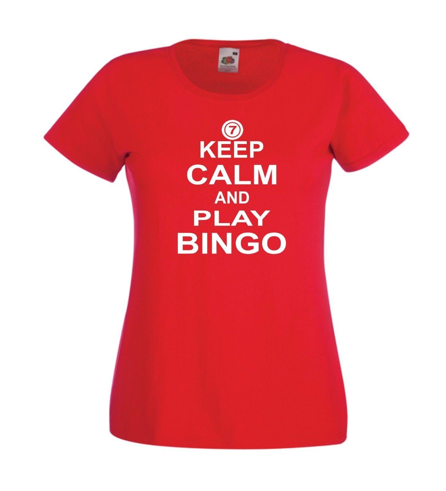 KEEP CALM PLAY BINGO Mothers Grandma Christmas Birthday Gift Mens Womens T SHIRT Funny Unisex Casual Tee Shirst It Shirt From Universal Fashion
