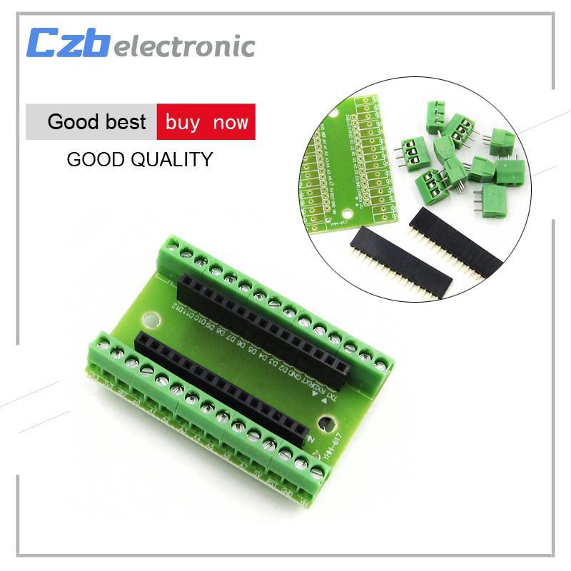 1Pcs Standard Expansion Board Terminal Adapter For Arduino Nano V3 0 AVR  ATMEGA328P ATMEGA328P-AU Module Nano IO Shield V1 0