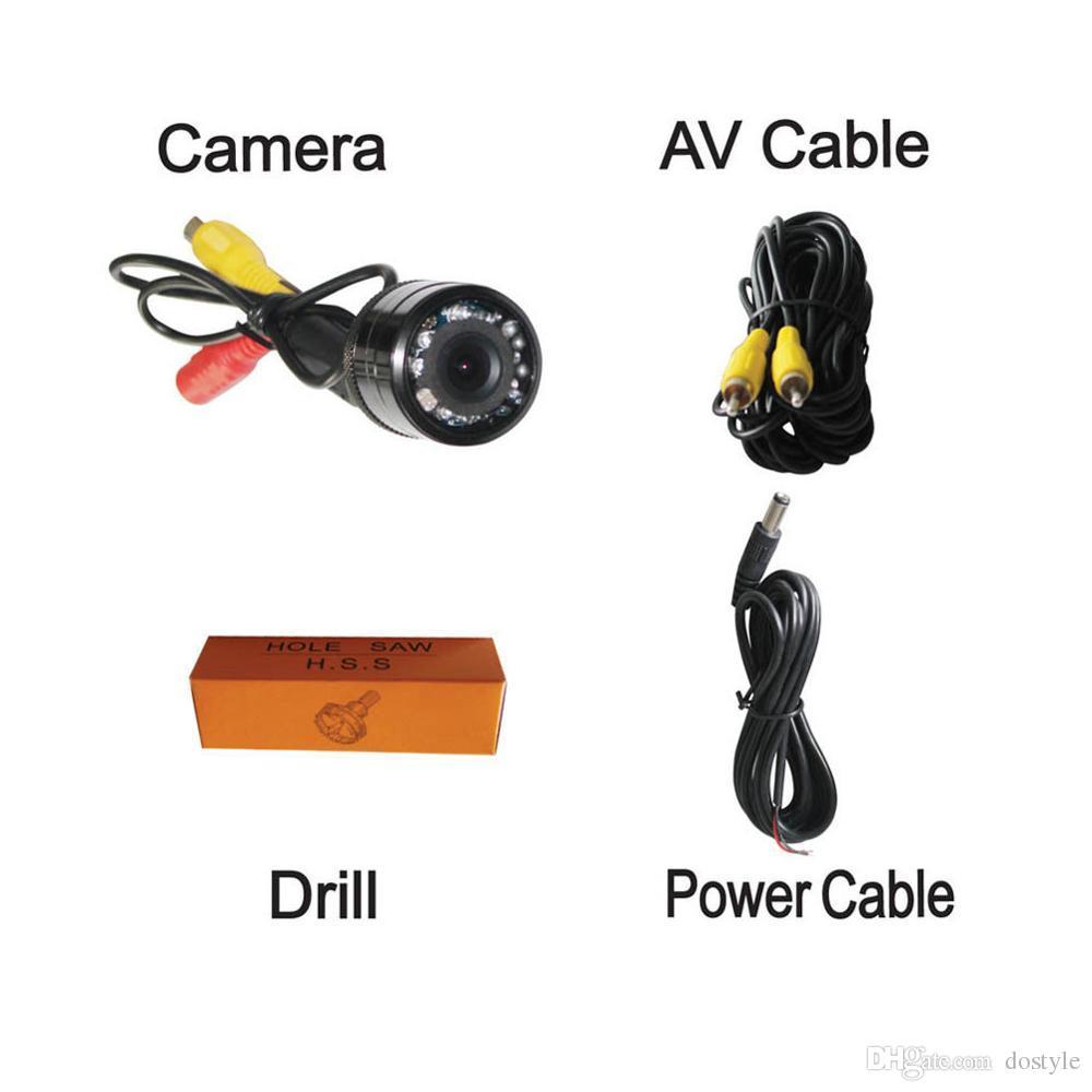 Parking Assistance IR infrarouge étanche non avant vue arrière de voiture Caméra infrarouge de vision nocturne pour le stationnement arrière Caméra Vue de sauvegarde