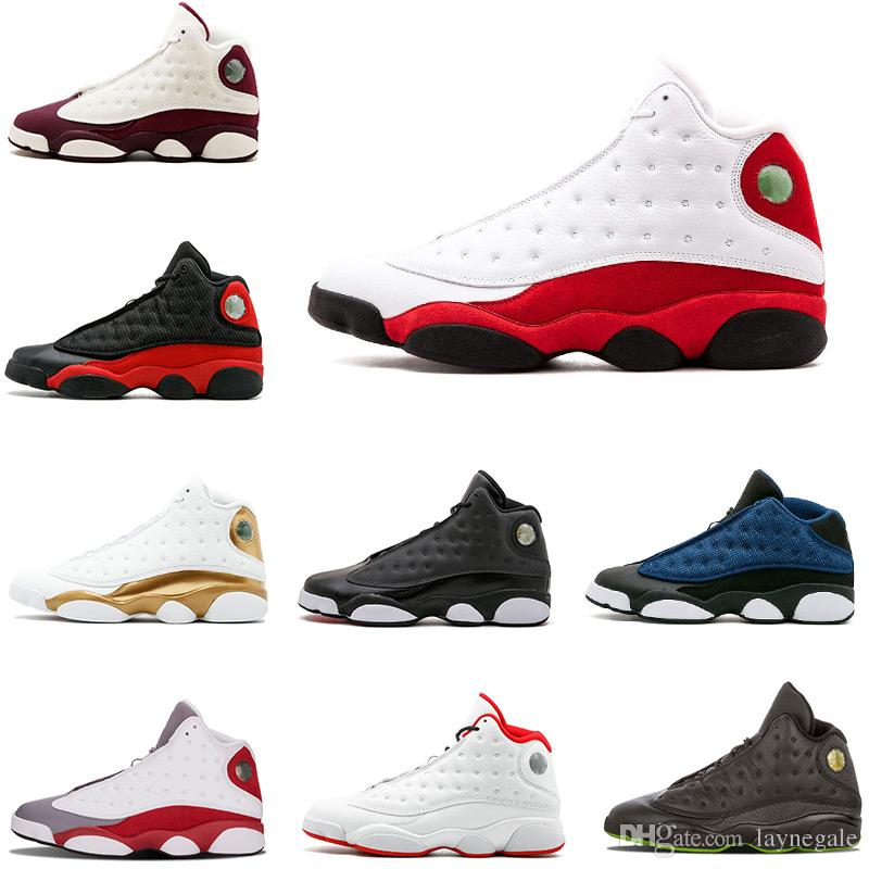 faae825ac04 2018 New Shoes 13s Ray Allen Men Basketball Shoes Barons Black Cat ...