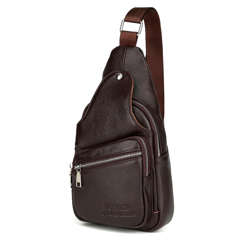 4b9479d923 Genuine Leather Men Chest Pack Single Shoulder Bag Mens Sling Bag Messenger  Crossbody Bag For Man Discount Designer Handbags Wholesale Purses From  Topseng