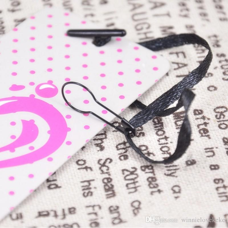 Premade Hang Tag Cord with Safety Pin Garment Price Swing Tag DIY String Cord