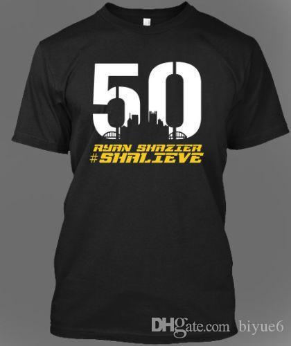 timeless design f5d3d ae434 Ryan Shazier T-Shirt Pittsburgh Footballer Team Tribute 50 Shalieve  T-Shirts Hot Sale Men T Shirt Fashion Harajuku