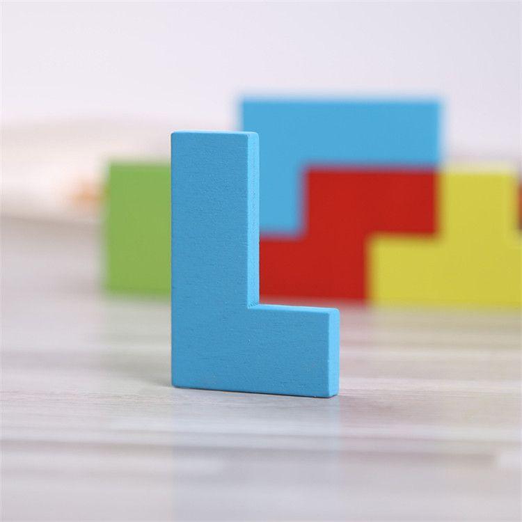 Wooden Tangram Brain Teaser Puzzle Toys Tetris Game Girls Boys Preschool Magination Intellectual Educational Kid Gift Funny gadgets