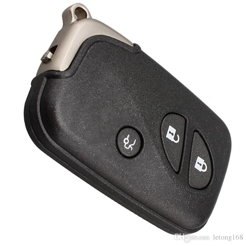 Car Styling 3Buttons New Replacement Smart Remote Key Shell Case Fob for Lexus with Uncut Blade