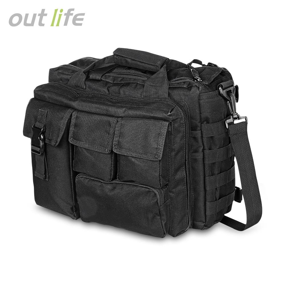 Outlife Military Laptop Messenger Bag Multifunctional Briefcase Shoulder Handbag