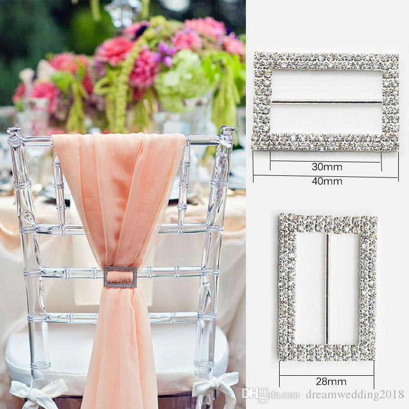 Rhinestone Ribbon Buckle Wholesale Buckle Crystal Slider Silver