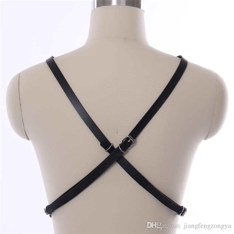 KÖRPERKORB Leder Body Harness Brust BH BDSM Bondage Dessous Sexy Tops Cage Harness Harajuku Fetisch Erotik Voller Frauen