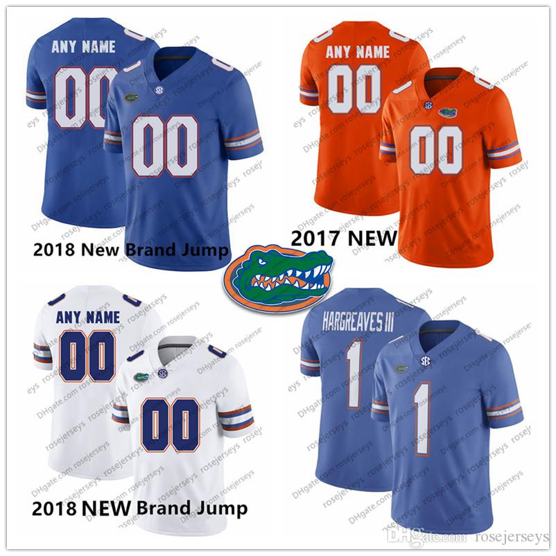 free shipping 8b901 14c2d NCAA Florida Gators #1 Vernon Hargreaves III 99 Jachai Polite 19 Evan  McPhers 13 Newton Percy Harvin 2018 Royal Blue White Orange Jersey