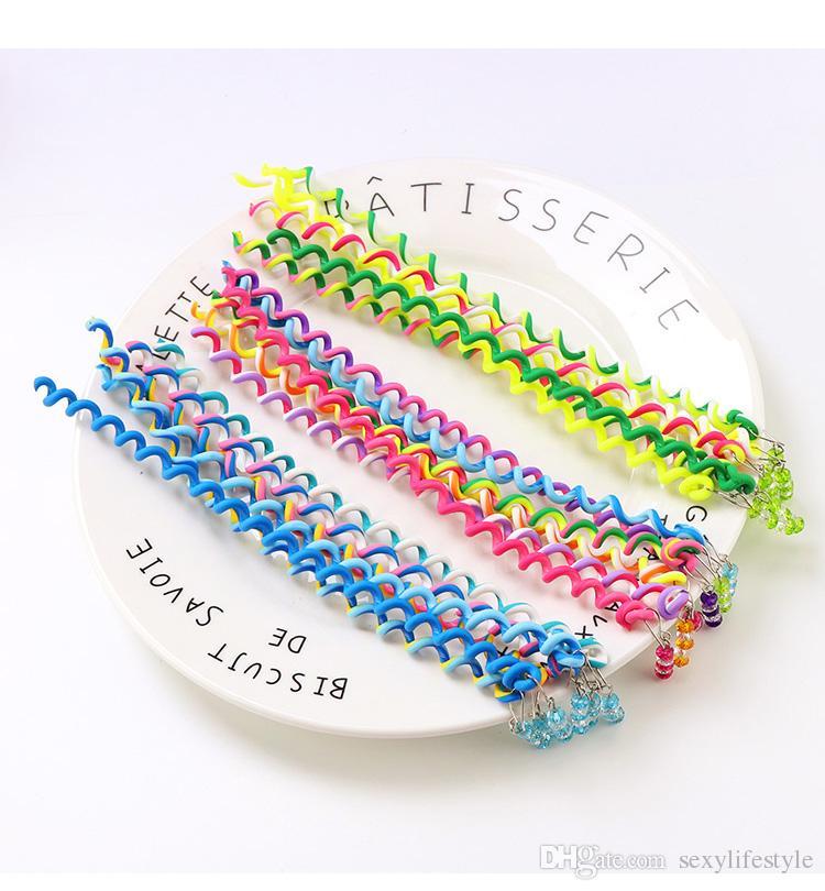 New Cute Girls Headband Colorful Crystal Long Elastic Hair Bands Hairwear Children Gift Hairbands Kids Hair Accessories