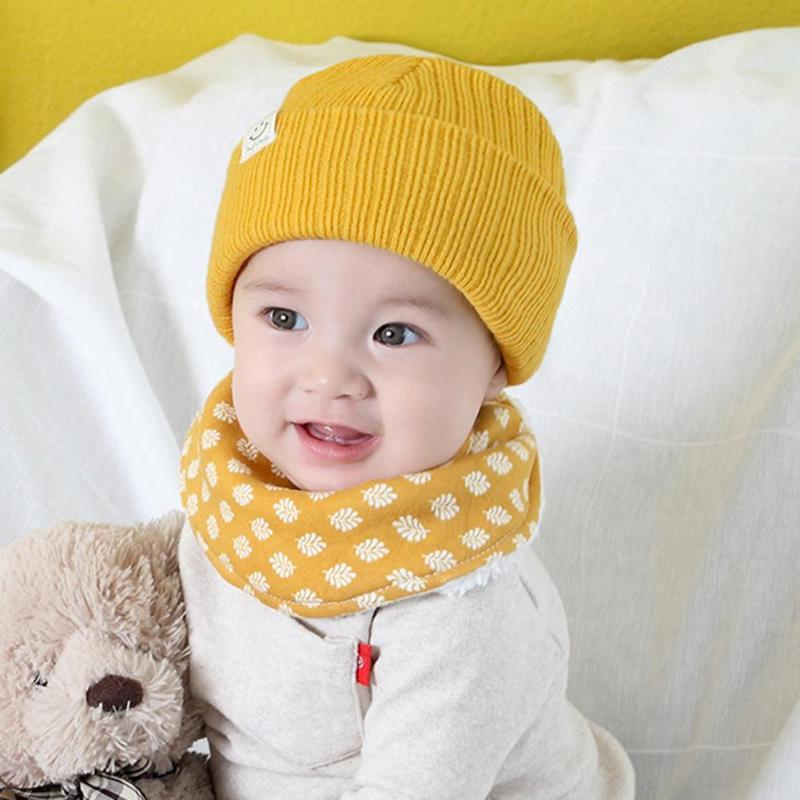 70086a4adff 2019 Warm Infant Beanies Hats Winter Baby Knitted Hat Cartoon Solid Color  Children Beanie Cap Thicken Soft Earmuffs Child Knit Caps From Lou88