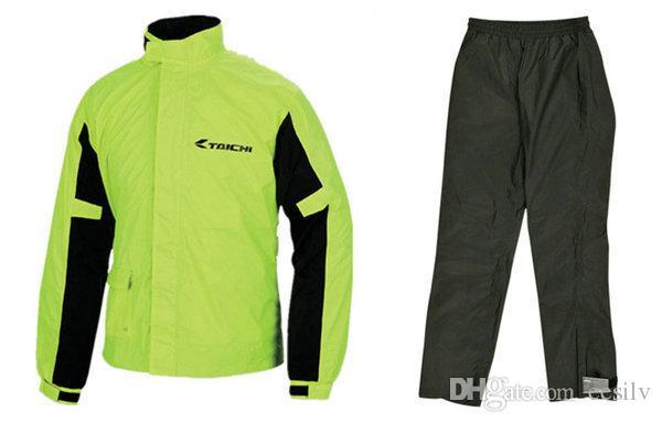TAICHI RS-038 motosiklet yağmurluk açık spor şövalye sürme pantolon ve ceket günlük yağmur günü binmek giysi iyi su geçirmez etki yağmurluk