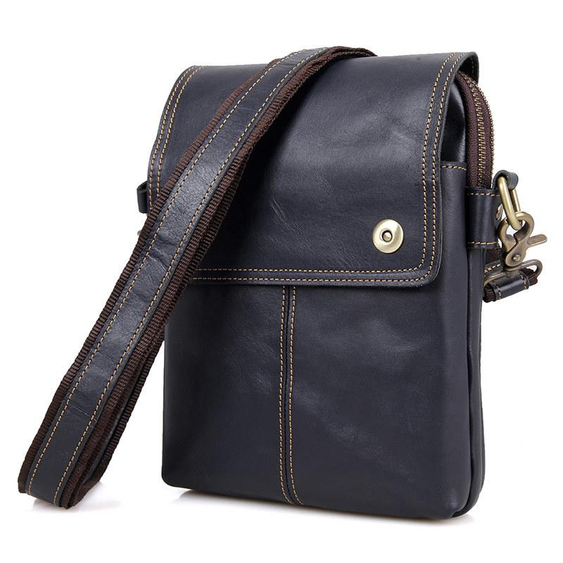 Nesitu Vintage Brown Dark Blue Wine Red Real Skin Genuine Leather Small Men  Messenger Bags For Mini Ipad Male Shoulder Bag M1006 Crossbody Bags Cheap  ... afc7aa48ade90