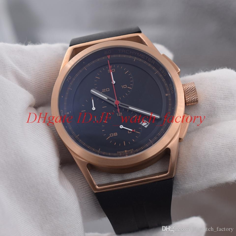 Chronograph Kleine Sportart P6750 Gold Uhrwerk Quarz Pd Herrenuhr Racing Strap Funktionieren Rose Stahlgehäuse Armbanduhr Marke Rubber Zifferblätter 1clF3TKJ