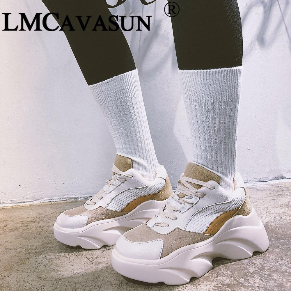 LMCAVASUN New 2018 Spring Fashion Women Casual Shoes Suede Leather Platform  Shoes Women Sneakers Ladies White Trainers Loafers Mens Boots From  Afantishoe 860098f4c7fc