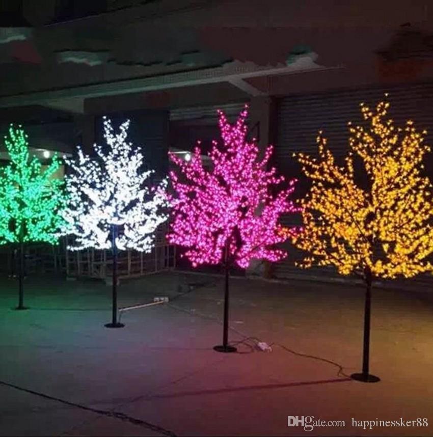 6e20ea62d0c Compre LED Árbol De Flor De Cerezo Artificial Luz De Navidad Bombillas LED  2m   6.5ft Altura 110   220VAC Uso Al Aire Libre A Prueba De Lluvia Envío  ...