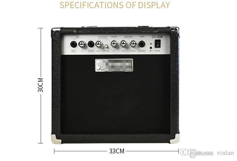 20 Watt Akustische E-gitarre Verstärker gitarre lautsprecher mit MIC musikinstrumente zubehör gitarre teile