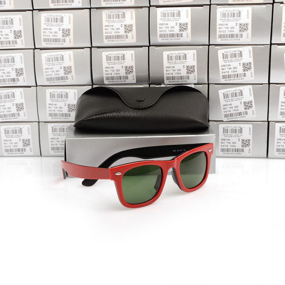 Classic Sun glasses High Quality 2140 Sunglasses glass Lens Brand Unisex Sunglasses Plank black Sunglasses UV400 protection sun glasses 2018