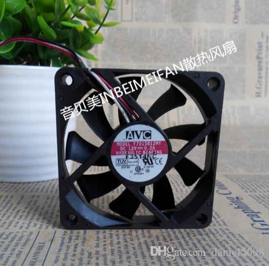 3 Wire Cpu Fan | 2019 Wholesale Avc F7015r12my 12v 0 2a 7015 7cm 3 Wire Cpu Fan