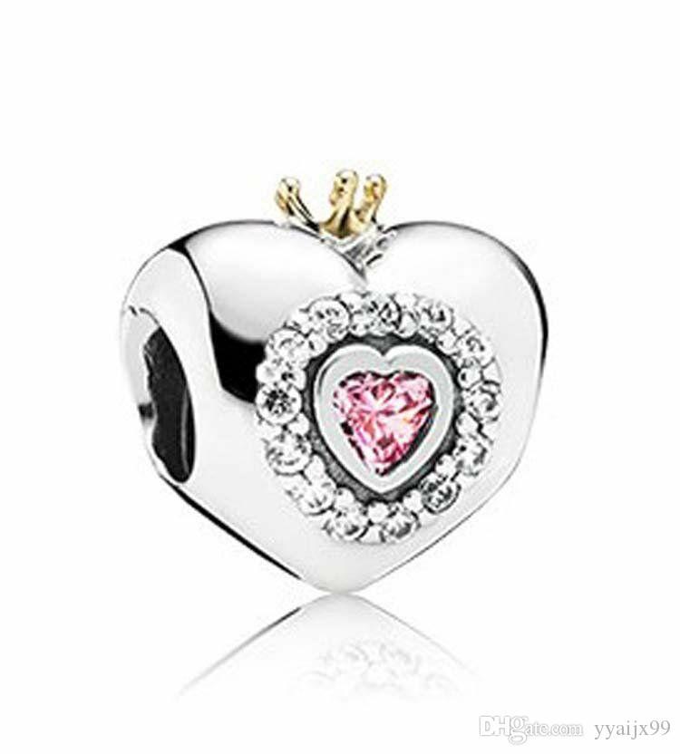 الحب سحر الخرز الكريستال تمهيد الجملة S925 الفضة الاسترليني ليناسب الأساور سحر باندورا أسلوب الشحن المجاني
