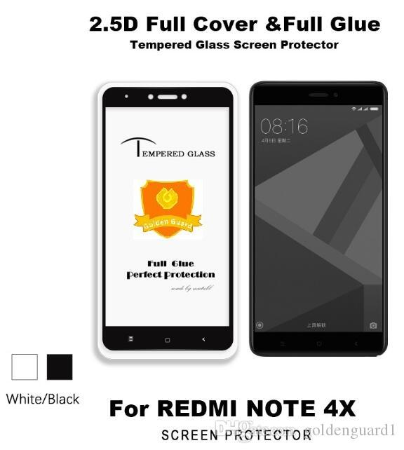 Full Glue Full Cover Закаленное стекло для Xiaomi Redmi 5 Plus Redmi Примечание 5 Pro 5A 4X Y1 Примечание 5 Prime Note 4 4X 9H Silk Print Screen Protector